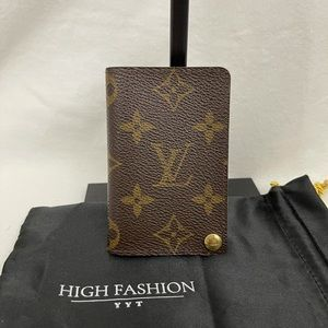 Louis Vuitton card case with plastic inserts